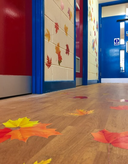 Murals for schools floor graphics