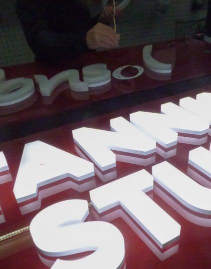 Shopfront Signs - Fabrication Methods