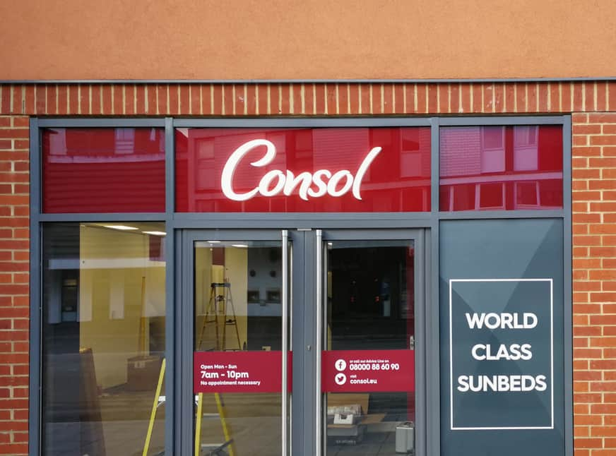 Shopfront Signs Installed and Lit
