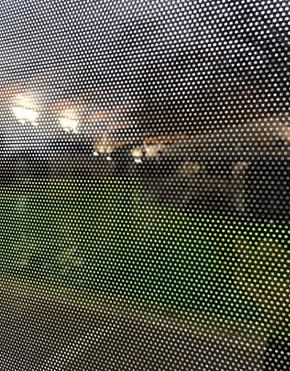 Privacy for Window using Contra Vision Perforated Film