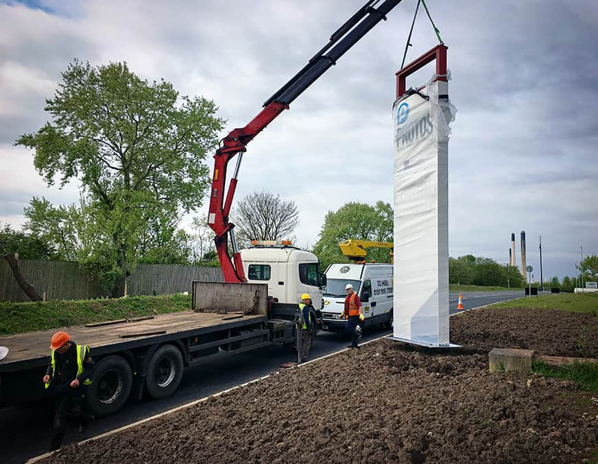 Totem Signs installation to foundations