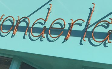 Shopfront Sign made from formed glass