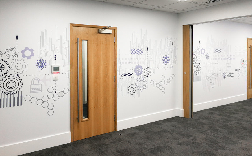 Wall graphics for Rolls Royce, Filton, Bristol
