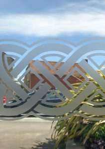 Etch Effect Window Graphics - Applied