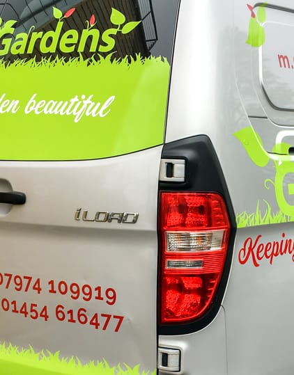 Vehicle livery for Garretts Gardens