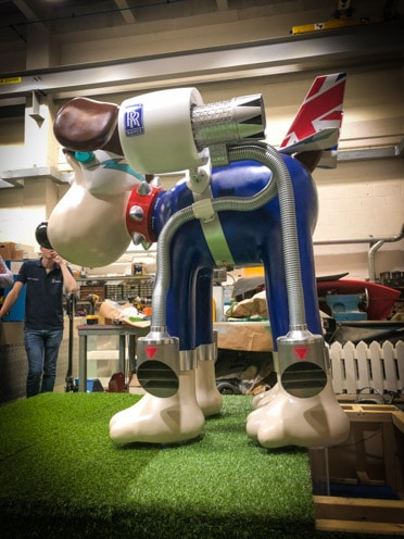 Gromit is ready for take off!