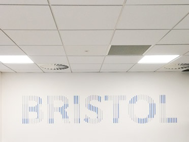 Wall Graphics for Rolls Royce, Bristol - Closeup - middle