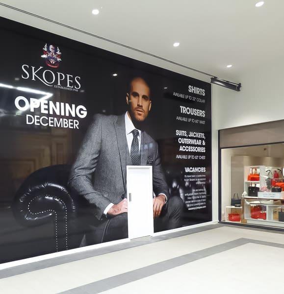 Shop Hoarding Graphics Opening