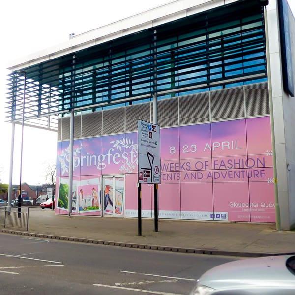 Digital Print Hoarding Shopping Centre