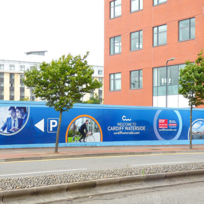 Hoarding Graphics surrounding the perimeter of a Building Site