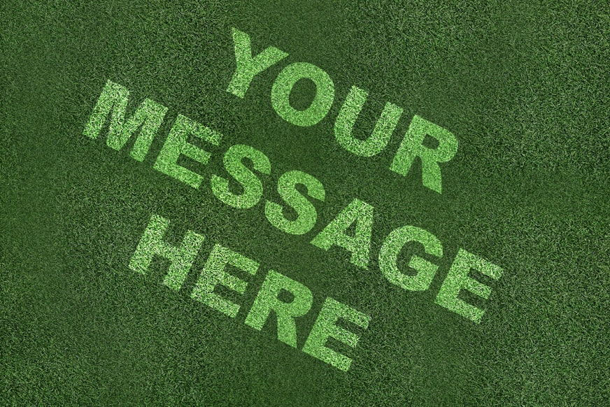 Stencilled Grass Graphics