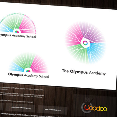School Branding Design options being prepared in readiness to show a client