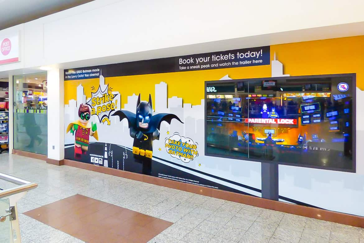 Moving Graphics Projected onto a Window in a Shopping Centre