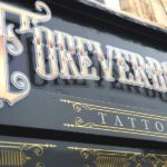 Fascia lettering for a Tattoo Shop