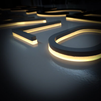 Illuminated Lettering - Push Through Construction