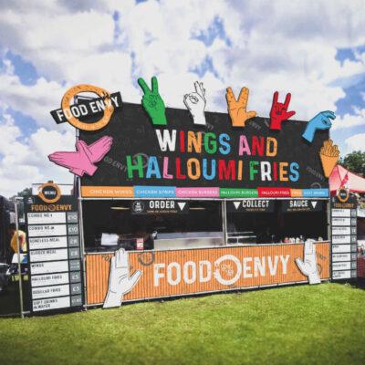 Large format banner for Food Envy