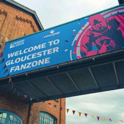 Large format Banner for the Gloucester Quays Designer Outlet Centre