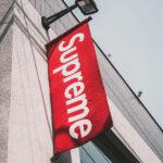 Shop front banner for Supreme