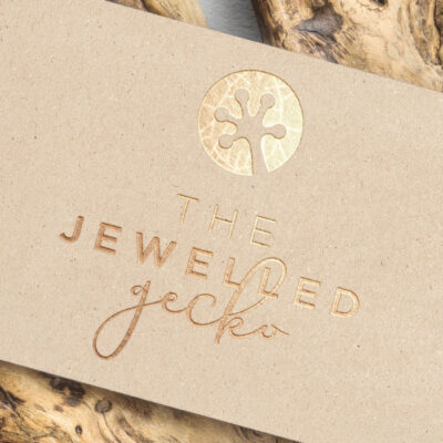 Branding and Logo design for The Jewelled Gecko