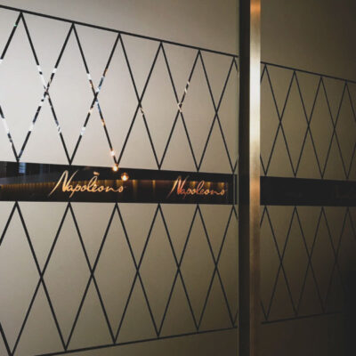 Etch effect graphics for Napoleon's Casino in Manchester