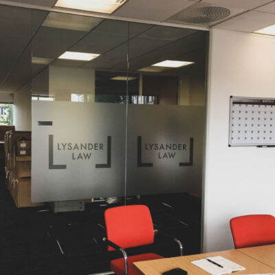 Etch effect graphics for Lysander Law