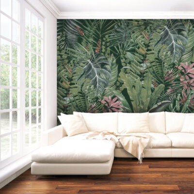 Mural on a living room wall