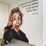 Wall mural of Albert Einstein