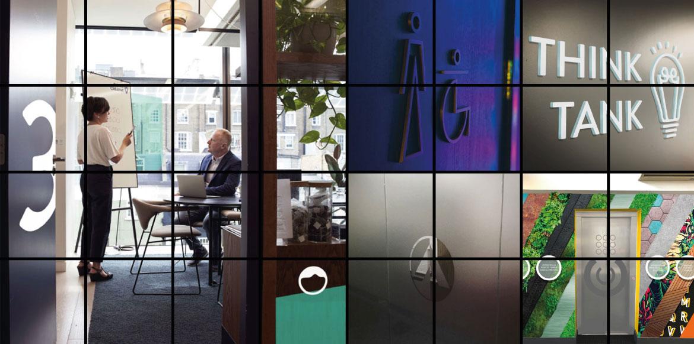 Office Door Signs Hero Shot Montage