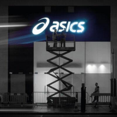 Rimless lettering for Asics on Oxford Street