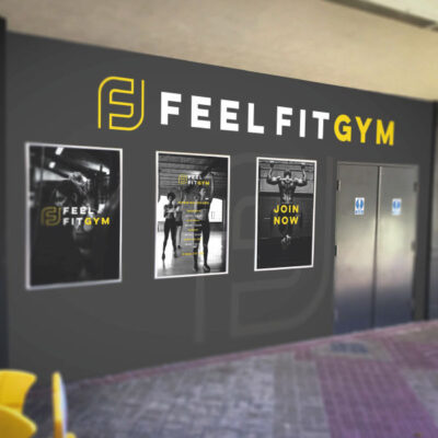 Gym wall graphics and infographics