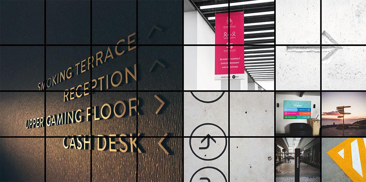 Wayfinding and Directional Signs - Hero Shot Montage