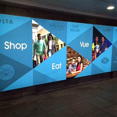 Backlit graphics for the Lowry Shopping Centre in Salford