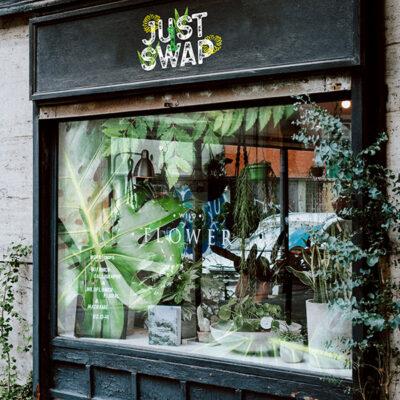 Digital Projection on a Shopfront Window