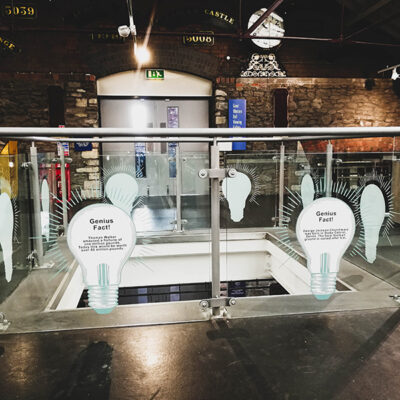 Custom exhibition graphics