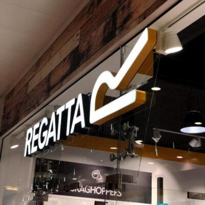Custom rimless illuminated letters made for Regatta