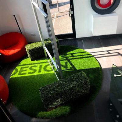 Textured floor graphics