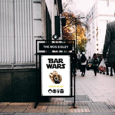 Freestanding pavement pub sign