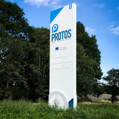 Large scale Pylon sign built for Protos