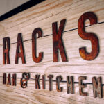 Custom restaurant sign for Racks Bar and Kitchen