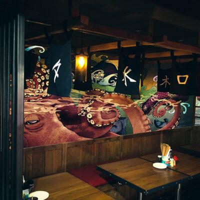Restaurant wall graphics