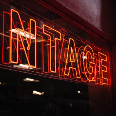 Rustic and Retro Neon Signage