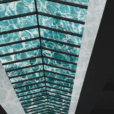 Surface transformation of a glass atrium