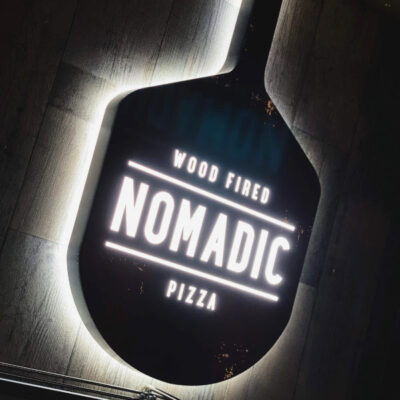 Bespoke Fabricated Logo for a Pizza Restaurant