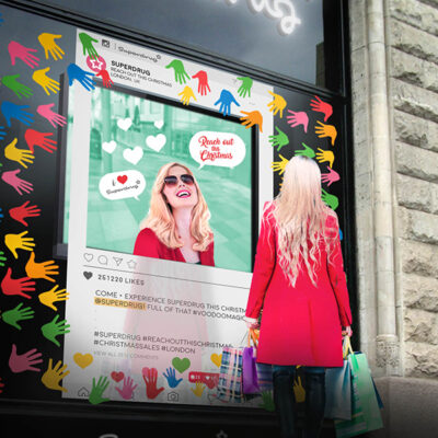 Shopfront Graphics with moving media