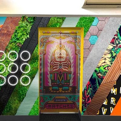 Wall and lift graphics