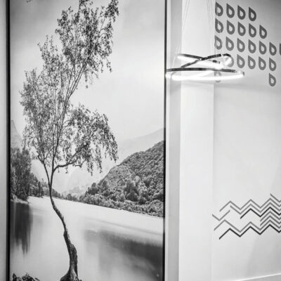 Office window partition graphics