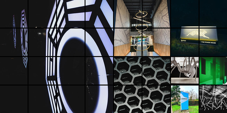 Architectural Signage Hero Shot montage