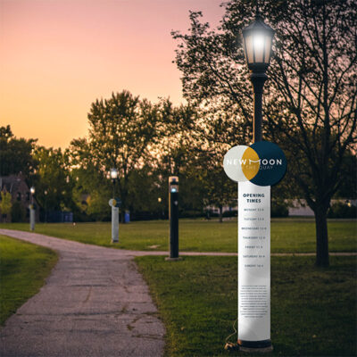 Lamp Post Wrap used in a park