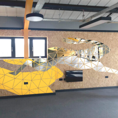 Corporate Art - Branded Wall Installation