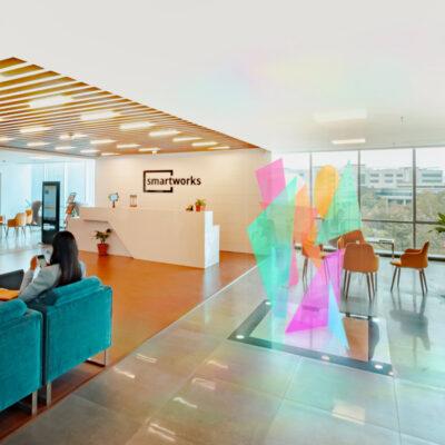 Corporate Art Coloured Acrylic Sculpture